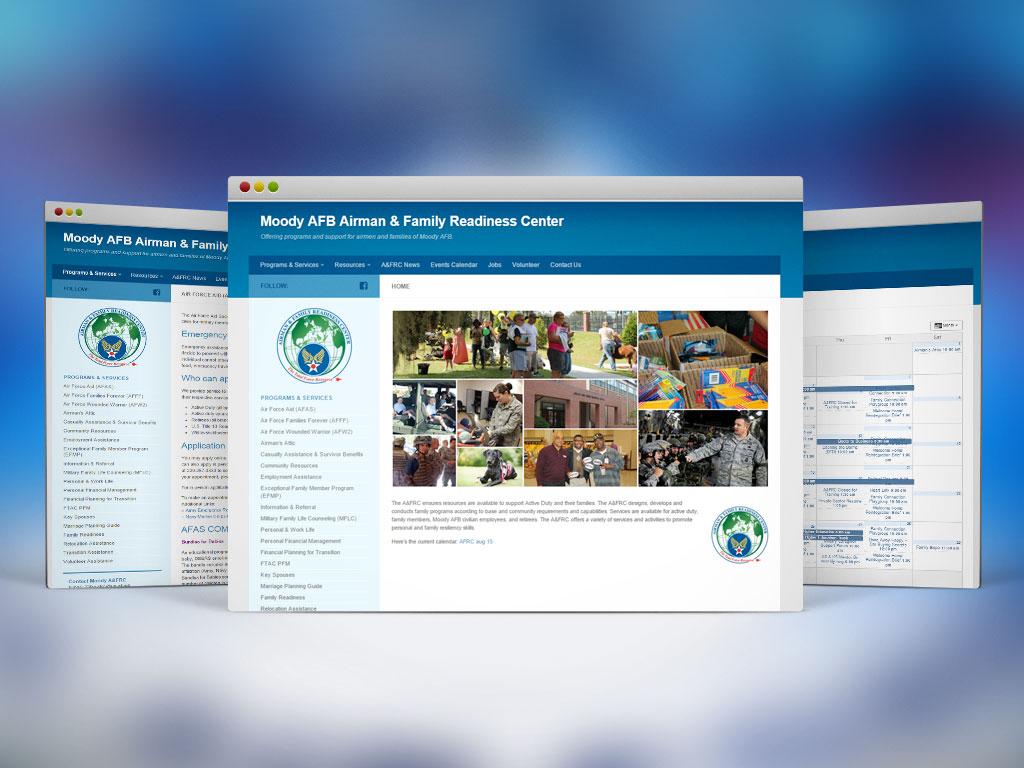 Web Design & Dev, WordPress | Moody  Airman & Family Readiness Center