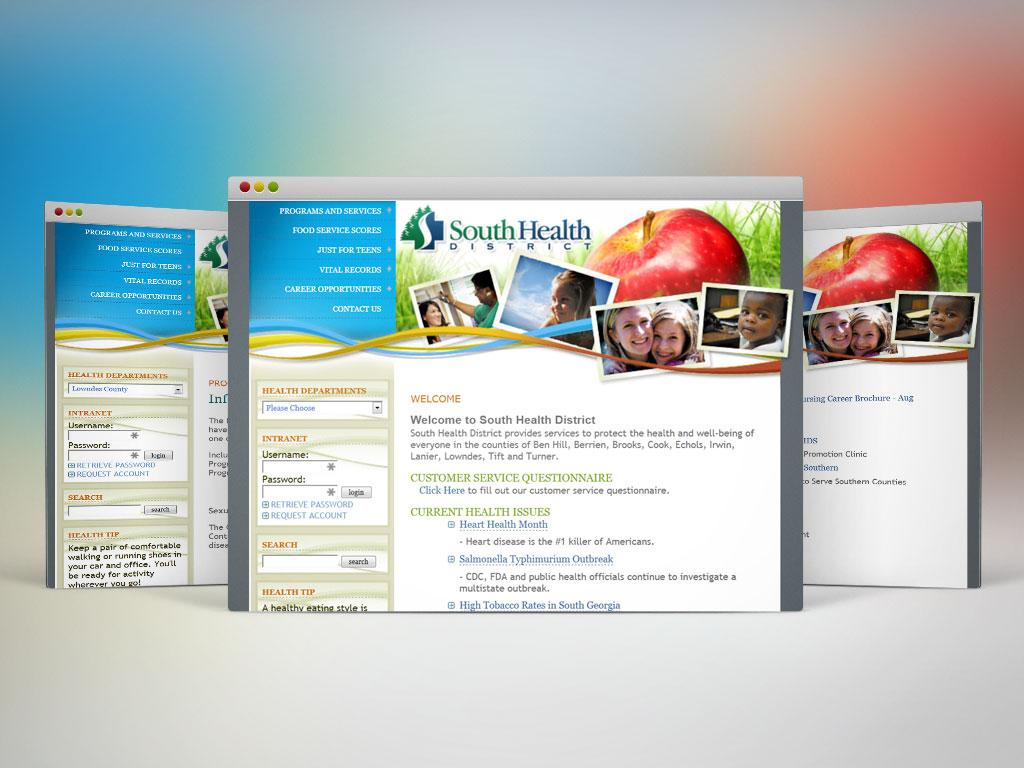 Web Design | South Health District (2010)