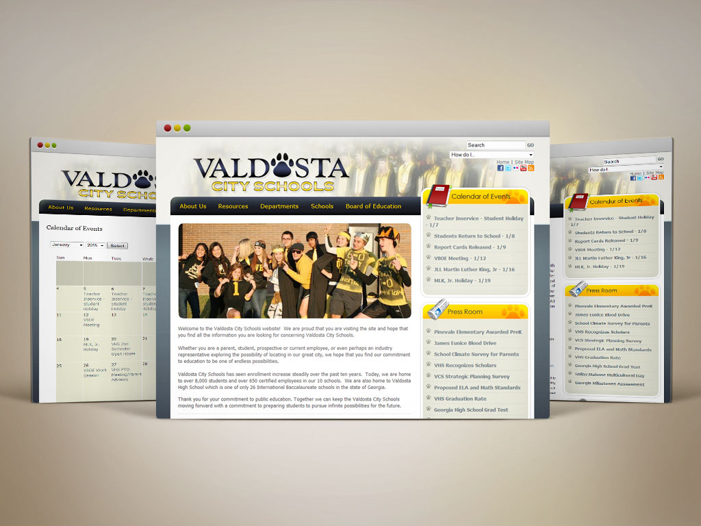 Web Design | Valdosta City School District (2008)